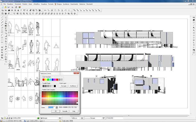 Bm cad software per la progettazione cad 2d 3d unifilare for Software di piano architettonico